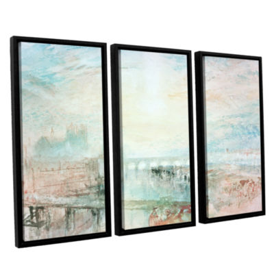 Brushstone View of Lyons 3-pc. Floater Framed Canvas Wall Art