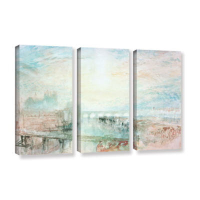 Brushstone View of Lyons 3-pc. Gallery Wrapped Canvas Wall Art