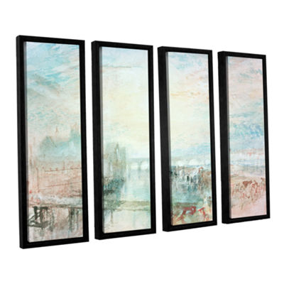 Brushstone View of Lyons 4-pc. Floater Framed Canvas Wall Art