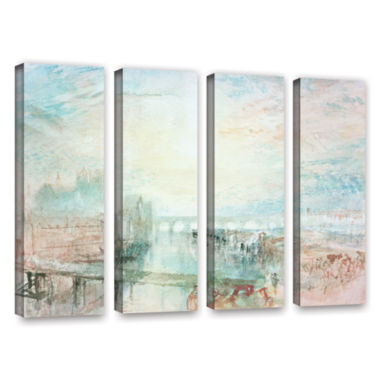 Brushstone View of Lyons 4-pc. Gallery Wrapped Canvas Wall Art