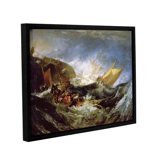 Brushstone Wreck of a Transport Ship Gallery Wrapped Floater-Framed Canvas Wall Art