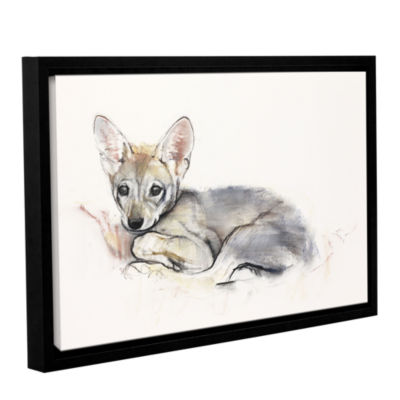 Brushstone Curled Arabian Wolf Pup Gallery WrappedFloater-Framed Canvas Wall Art