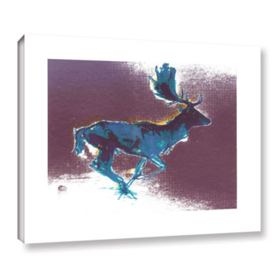 Brushstone Fallow Buck Gallery Wrapped Canvas WallArt
