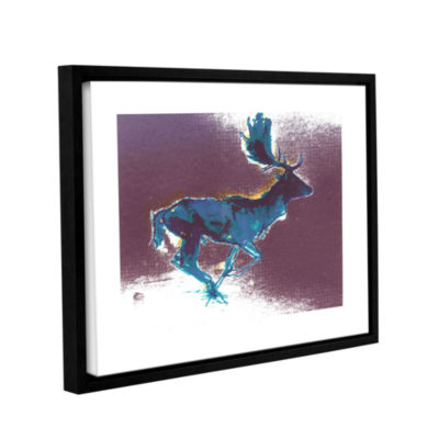 Brushstone Fallow Buck Gallery Wrapped Floater-Framed Canvas Wall Art