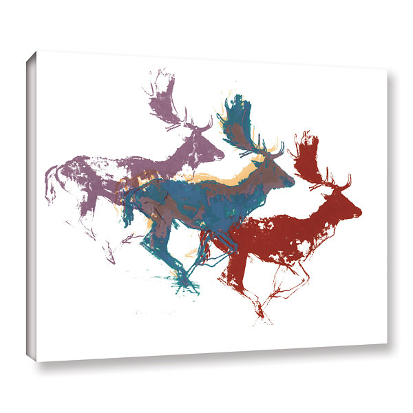 Brushstone Fallow Bucks Gallery Wrapped Canvas Wall Art
