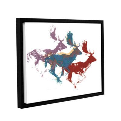 Brushstone Fallow Bucks Gallery Wrapped Floater-Framed Canvas Wall Art