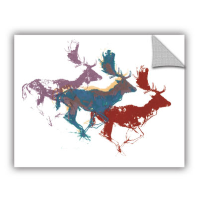 Brushstone Fallow Bucks Removable Wall Decal