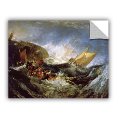 Brushstone Wreck of a Transport Ship Removable Wall Decal
