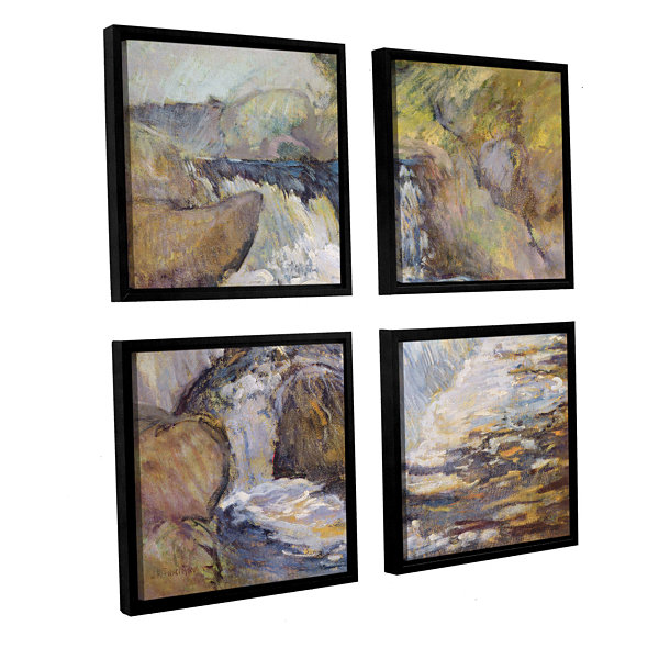 Brushstone The Cascade; c.1889 4-pc. Square Floater Framed Canvas Wall Art