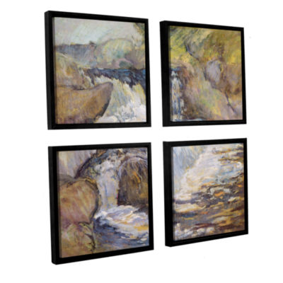 Brushstone The Cascade c.1889 4-pc. Square FloaterFramed Canvas Wall Art