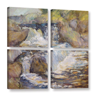Brushstone The Cascade; c.1889 4-pc. Square Gallery Wrapped Canvas Wall Art