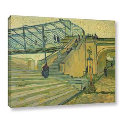 Brushstone Bridge Of Trinquetille 1888 Gallery Wrapped Canvas Wall Art