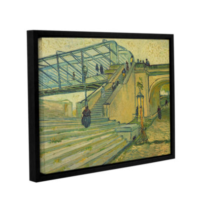 Brushstone Bridge Of Trinquetille; 1888 Gallery Wrapped Floater-Framed Canvas Wall Art