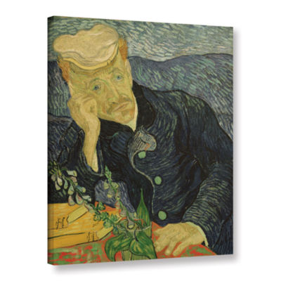 Brushstone Portrait Of Dr Paul Gachet Gallery Wrapped Canvas Wall Art