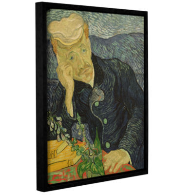Brushstone Portrait Of Dr Paul Gachet Gallery Wrapped Floater-Framed Canvas Wall Art