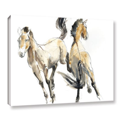 Brushstone Horsing Gallery Wrapped Canvas Wall Art
