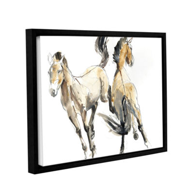 Brushstone Horsing Gallery Wrapped Floater-FramedCanvas Wall Art