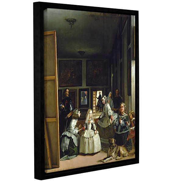 Brushstone Las Meninas Or Family Of Phillip IV Gallery Wrapped Floater-Framed Canvas Wall Art