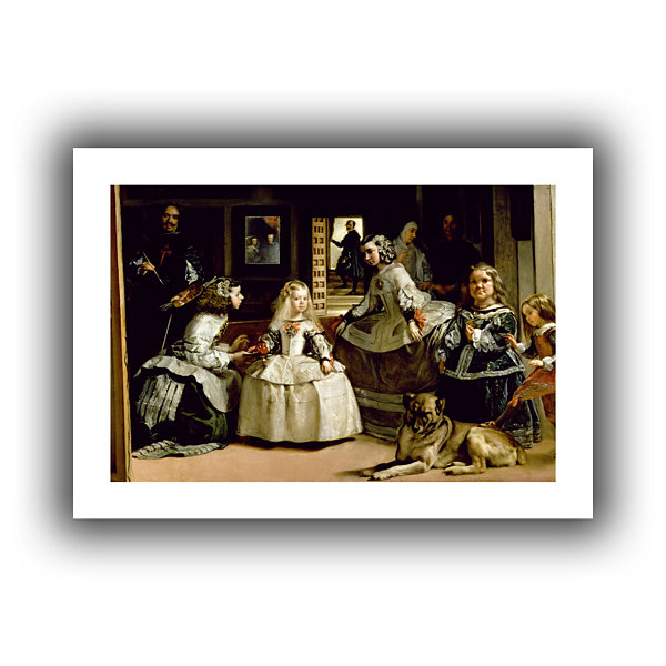Brushstone Las Meninas; Detail Of The Lower Half Depicting The Family Of Phillip IV Of Spain CanvasWall Art
