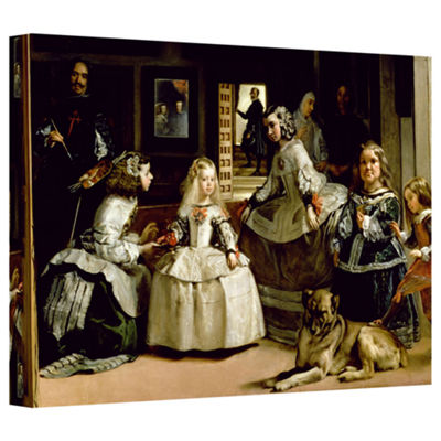Brushstone Las Meninas Detail Of The Lower Half Depicting The Family Of Phillip IV Of Spain GalleryWrapped Canvas Wall Art