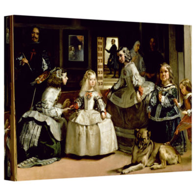 Brushstone Las Meninas; Detail Of The Lower Half Depicting The Family Of Phillip IV Of Spain GalleryWrapped Canvas Wall Art