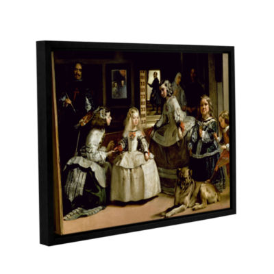 Brushstone Las Meninas; Detail Of The Lower Half Depicting The Family Of Phillip IV Of Spain GalleryWrapped Floater-Framed Canvas Wall Art