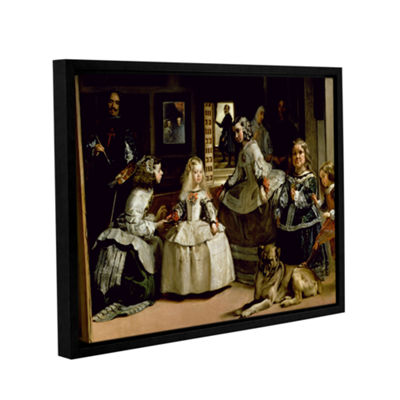 Brushstone Las Meninas Detail Of The Lower Half Depicting The Family Of Phillip IV Of Spain GalleryWrapped Floater-Framed Canvas Wall Art