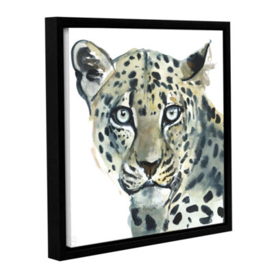 Brushstone Leopard Gallery Wrapped Floater-FramedCanvas Wall Art