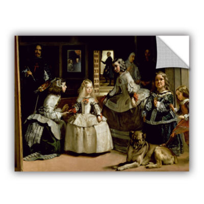 Brushstone Las Meninas; Detail Of The Lower Half Depicting The Family Of Phillip IV Of Spain Removable Wall Decal
