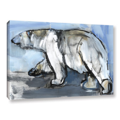 Brushstone Polar Gallery Wrapped Canvas Wall Art