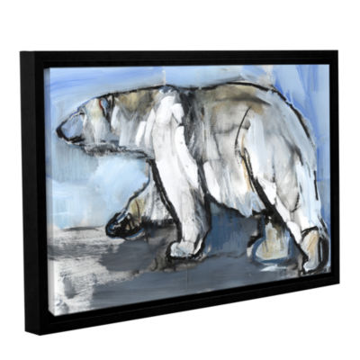 Brushstone Polar Gallery Wrapped Floater-Framed Canvas Wall Art