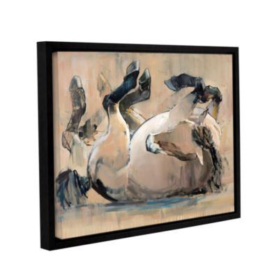 Brushstone Roll Gallery Wrapped Floater-Framed Canvas Wall Art