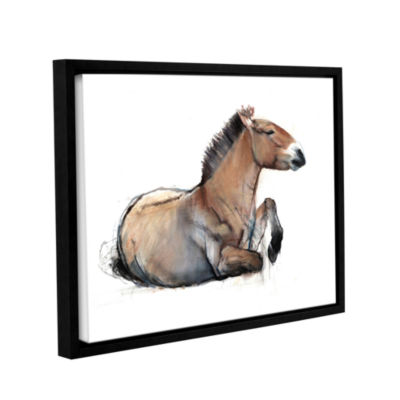 Brushstone Seated Przewalski Gallery Wrapped Floater-Framed Canvas Wall Art