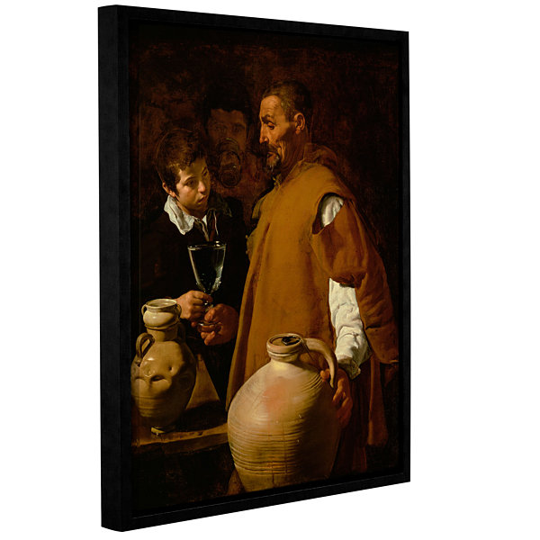 Brushstone Waterseller Of Seville Gallery WrappedFloater-Framed Canvas Wall Art