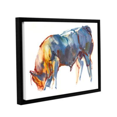 Brushstone Summer Sunset Gallery Wrapped Floater-Framed Canvas Wall Art