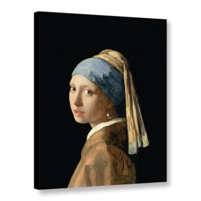 Brushstone Girl with The Pearl Earring Gallery Wrapped Canvas Wall Art