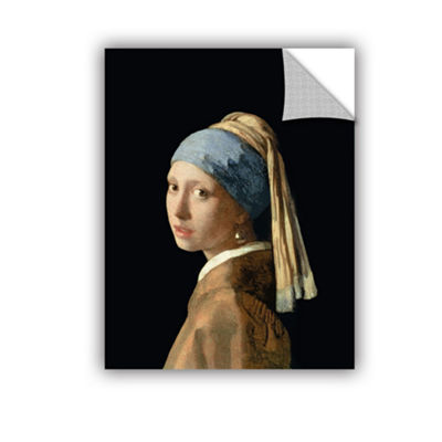 Brushstone Girl with The Pearl Earring Removable Wall Decal