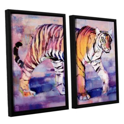 Brushstone Tigress 2-pc. Floater Framed Canvas Wall Art