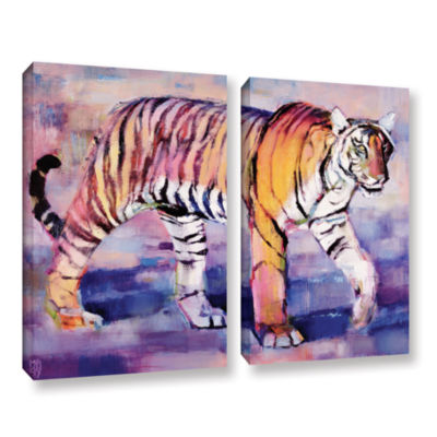Brushstone Tigress 2-pc. Gallery Wrapped Canvas Wall Art