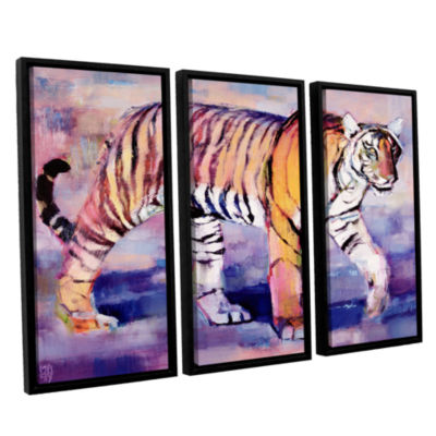 Brushstone Tigress 3-pc. Floater Framed Canvas Wall Art