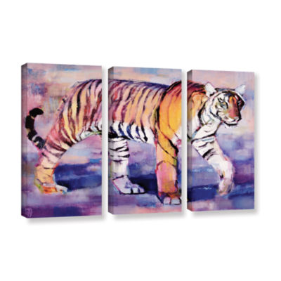 Brushstone Tigress 3-pc. Gallery Wrapped Canvas Wall Art