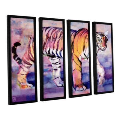 Brushstone Tigress 4-pc. Floater Framed Canvas Wall Art