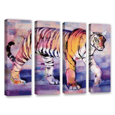 Brushstone Tigress 4-pc. Gallery Wrapped Canvas Wall Art
