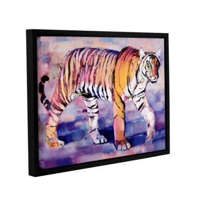 Brushstone Tigress Gallery Wrapped Floater-FramedCanvas Wall Art