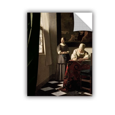 Brushstone Lady Writing a Letter with Her Maid Removable Wall Decal
