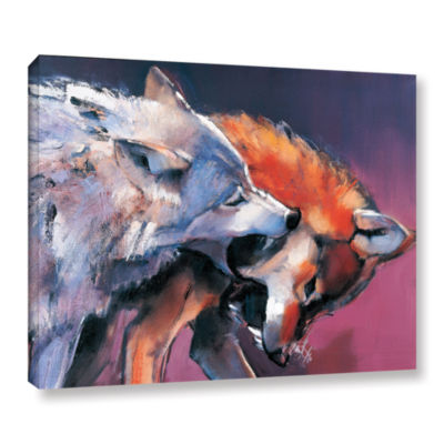Brushstone Two Wolves Mark Aldington Gallery Wrapped Canvas Wall Art