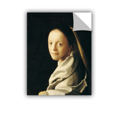Brushstone Portrait of a Young Woman Removable Wall Decal