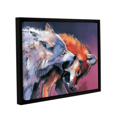 Brushstone Two Wolves Mark Aldington Gallery Wrapped Floater-Framed Canvas Wall Art