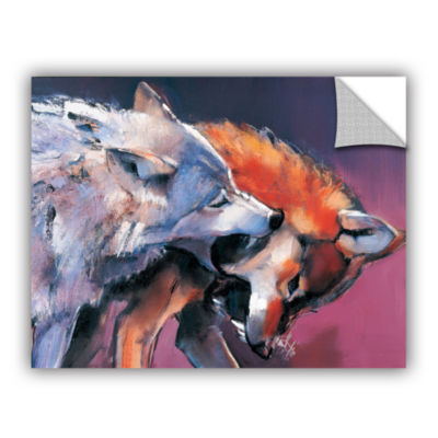Brushstone Two Wolves Mark Aldington Removable Wall Decal
