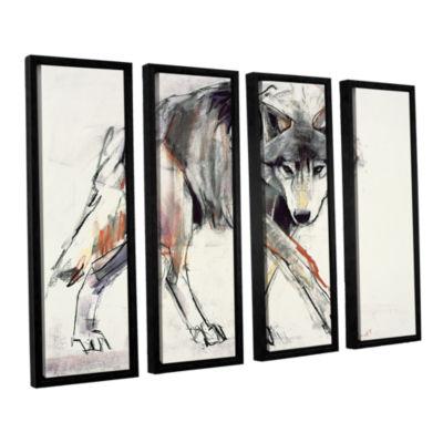 Brushstone Wolf Mark Aldington 4-pc. Floater Framed Canvas Wall Art